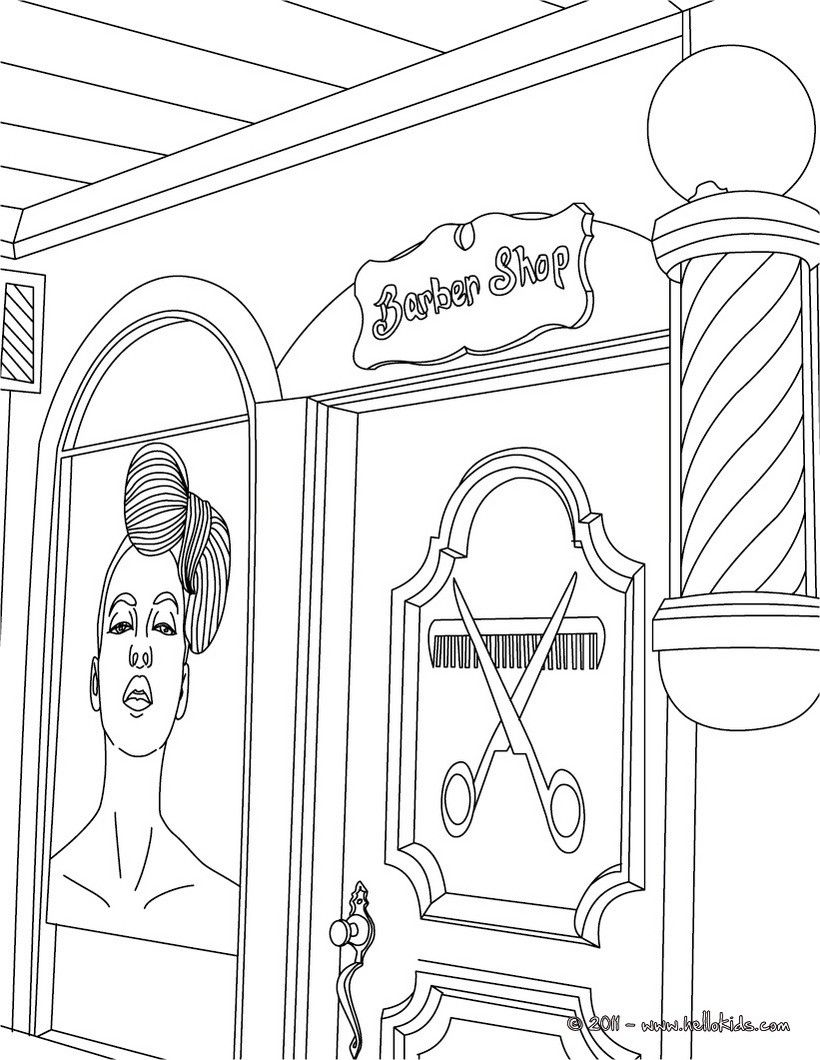 Hairdresser Coloring Page Amazing Way To Discover Job More