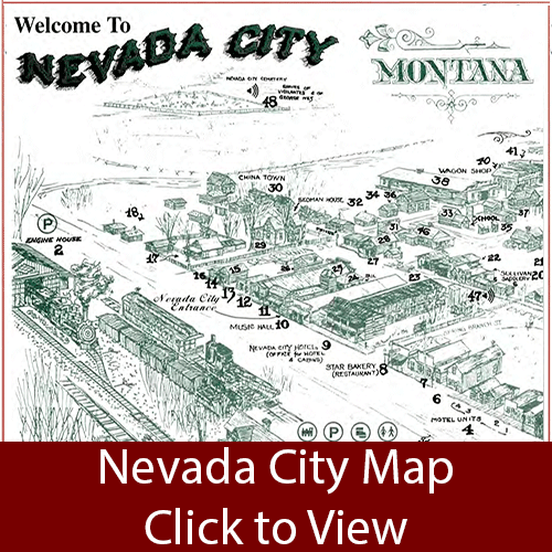 Nevada City Map link Travel Montana Pinterest