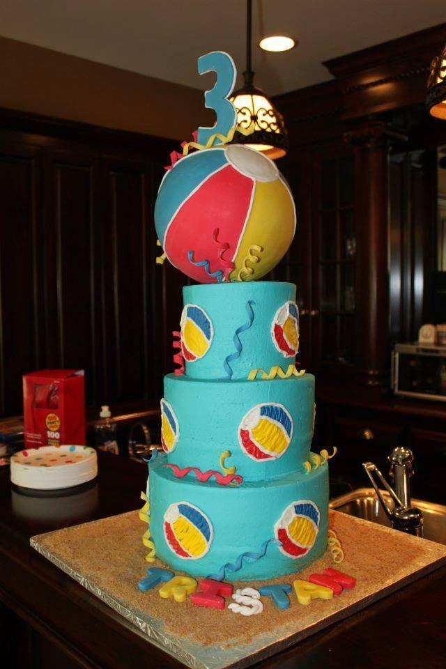 Beach Ball Cake Decorations Beach Ball Cake  Cakes  Pinterest  Beach Ball Cake Beach Ball