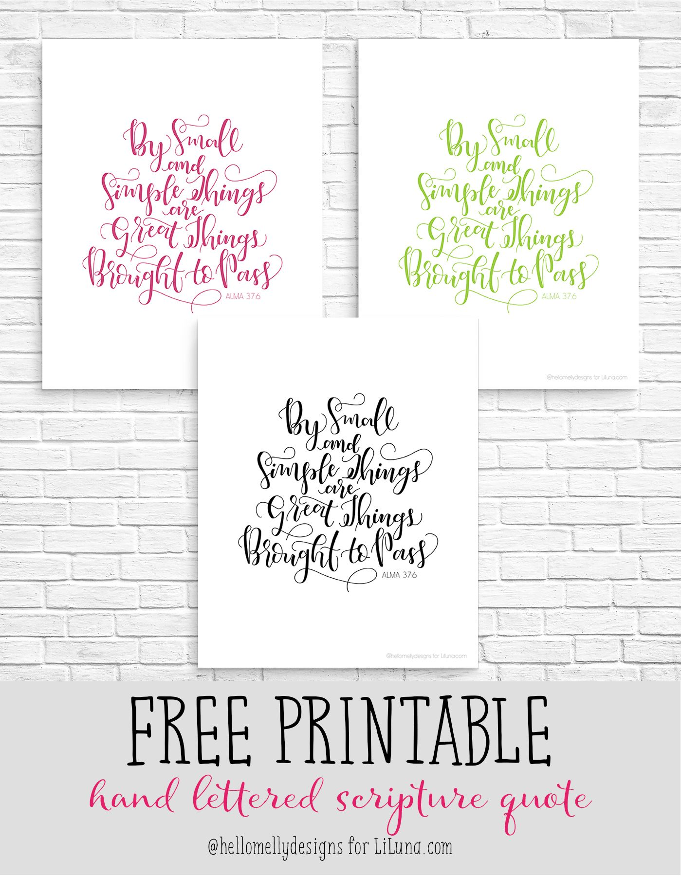 By Small And Simple Things Print The One Stop Diy Shop Yw In