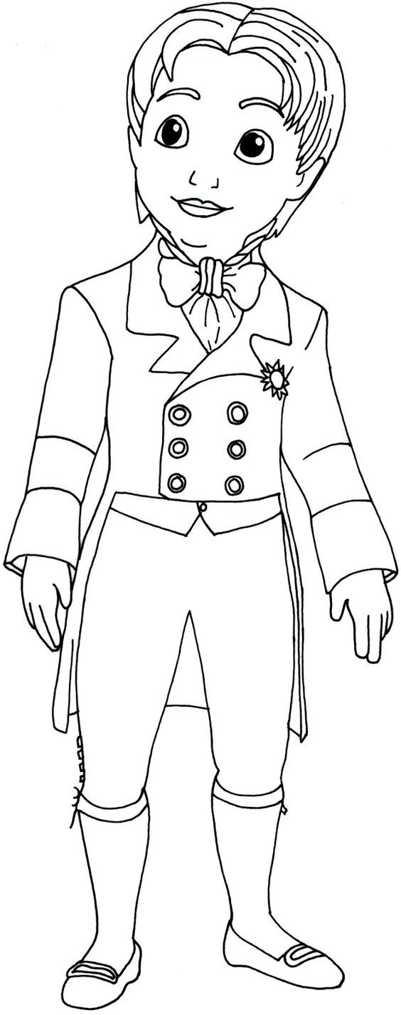 sofia the first coloring pages prince james pammy u0027s third
