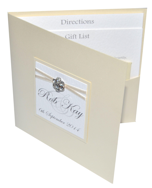 pocket invitation with diamante cluster trim from www.sew-unique.co ...