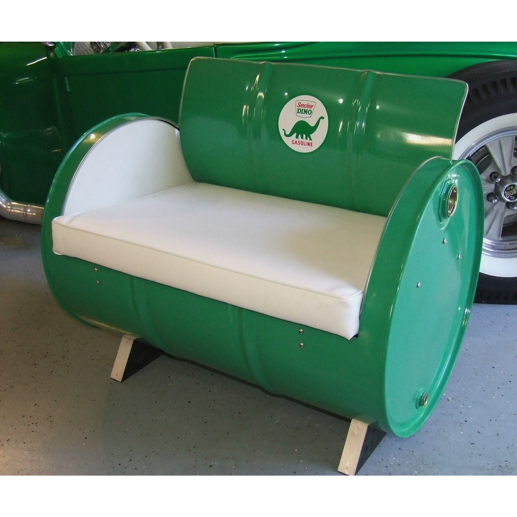 Drum Works Furniture Repurposes Recycled 55 Gallon Steel Drums Into  Seating, Bars, Shop Cabinets And Outdoor Seating. This Sinclair Dino Arm  Chair Will Be A ...