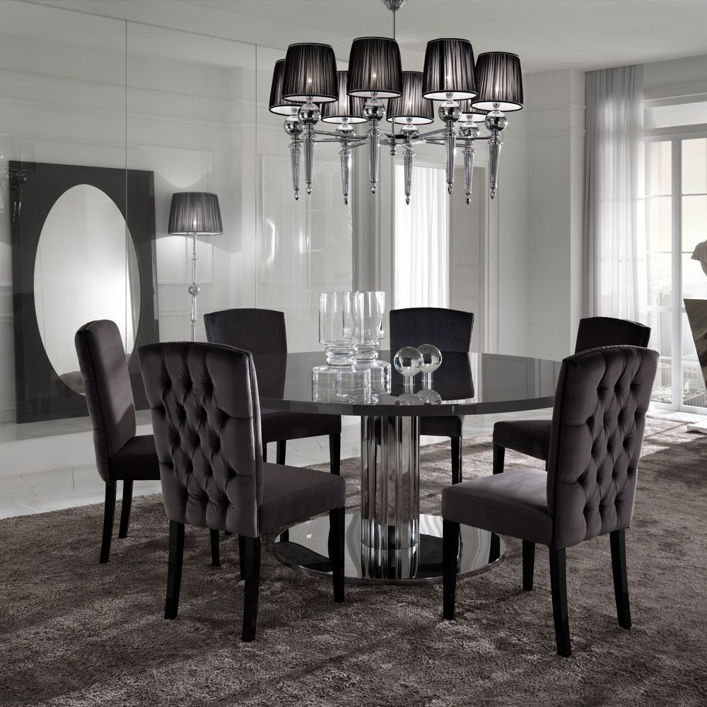 Luxury Dining Table Sets Juliettes Interiors Round Dining Table Sets Modern Dining Room Black Round Dining Table