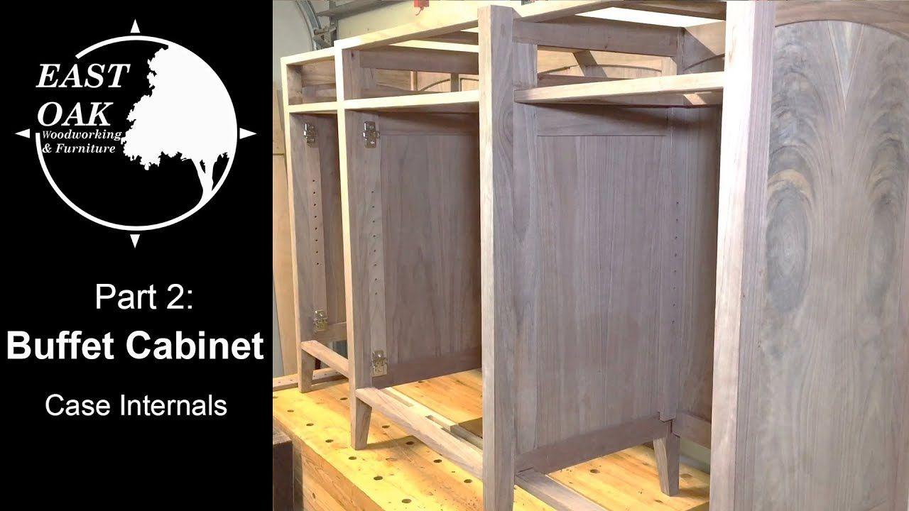 Walnut Buffet Cabinet Build Part 2 Case Internals Woodworking Youtube Buffet Cabinet Woodworking Buffet