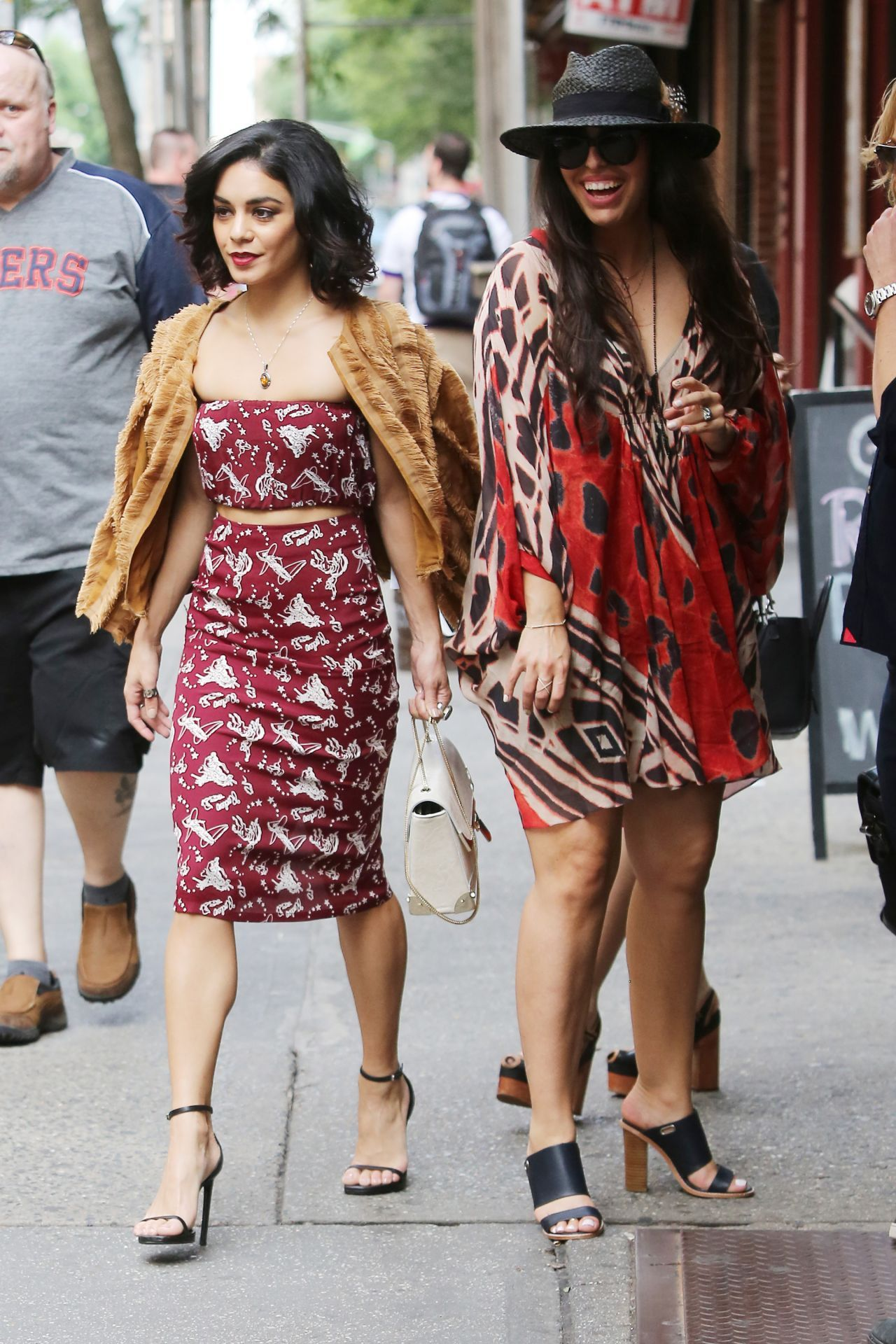 Vanessa Hudgens Style - Leaving Her Apartment in New York City, June 2015