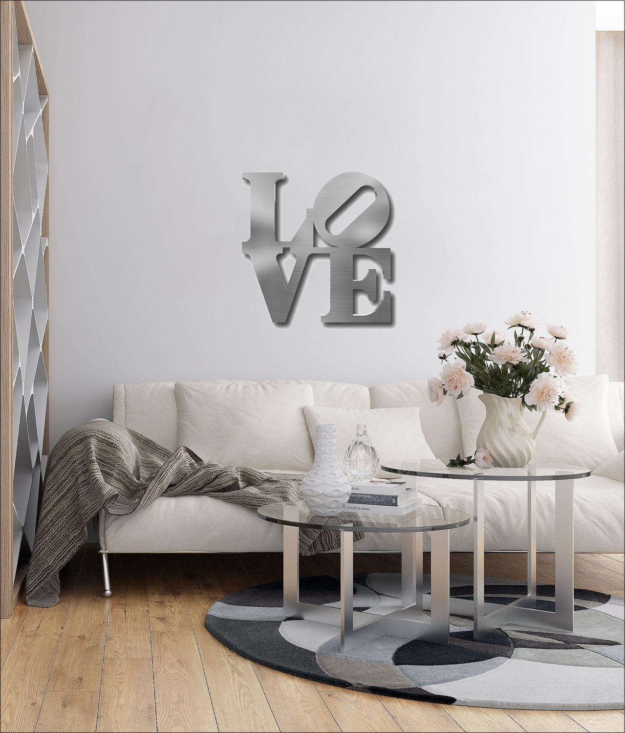 Love Metal Wall Art Love Wall Decor Word Art Contemporary Metal
