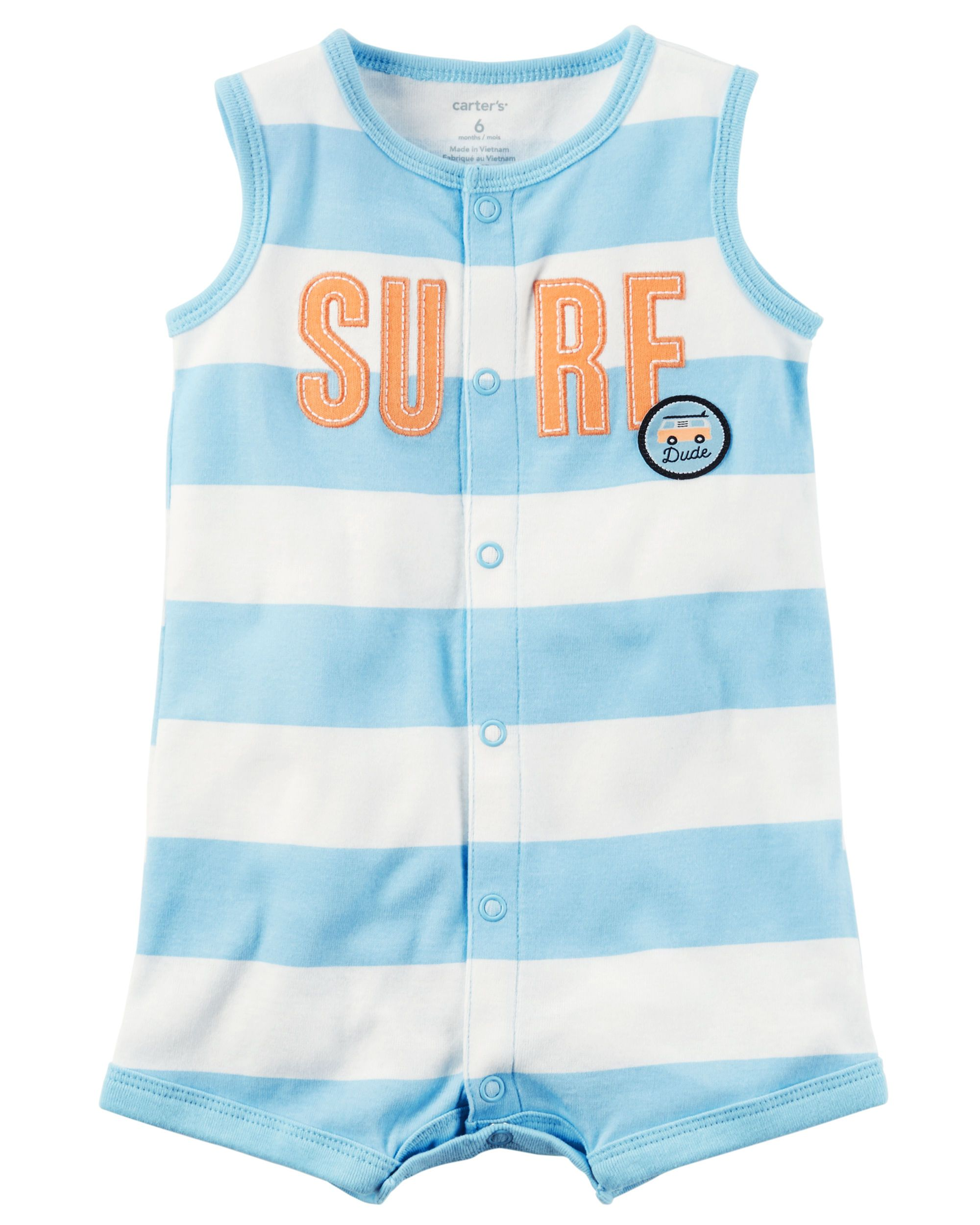 5be0905c4 Snap-Up Cotton Romper | For the babies | Carters baby boys, Rompers ...