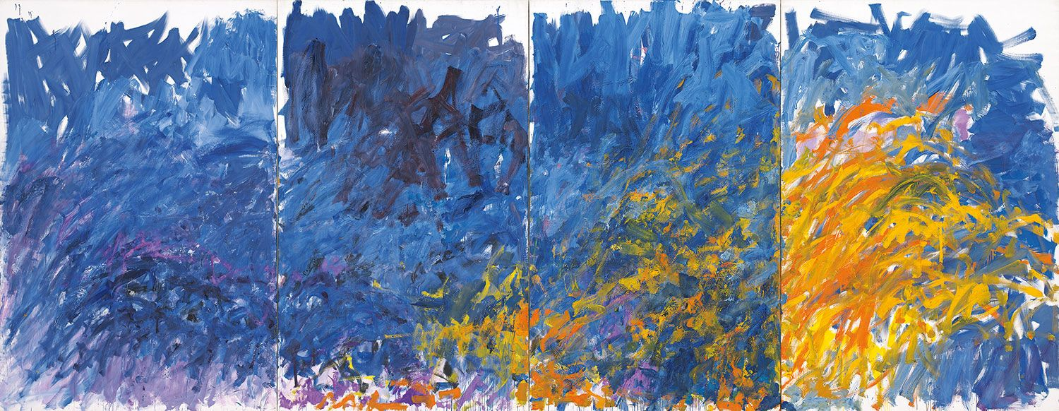 5 Modern Art Postage Stamps  Artist Joan Mitchell  Abstract Expressionist   44 Cent Spring Stamps for Mailing