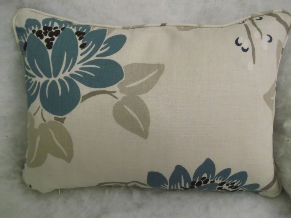 HERE FOR SALE IS A BEAUTIFUL OBLONG CUSHION COMPLETE WITH INNER/FILLER. THE INNERS ARE WELL FILLED VIRGIN FIBRE AND CONFORM TO STRINGENT BRITISH STANDARDS. Material COTTON 37% LINEN 51% POLYESTER 12%. | eBay!