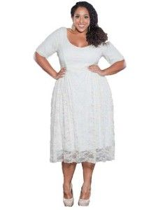 840879a4b7f7 Cute cheap white plus size lace dresses with sleeves for curvy women 2014 under   100 dollars