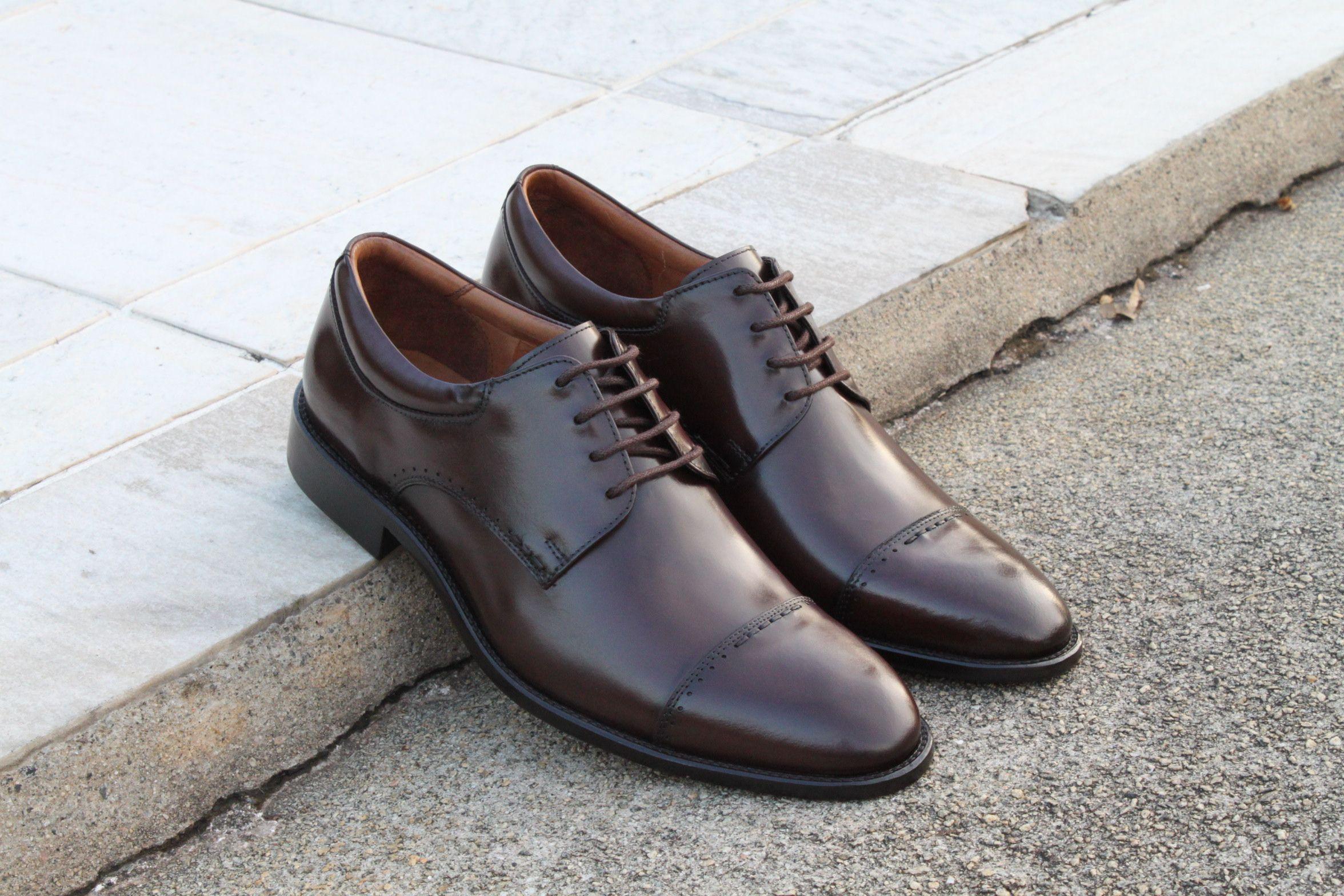 6c16d08ed Sapato Social Masculino Derby CNS Gary em Couro cor Mouro, com sola de couro  e