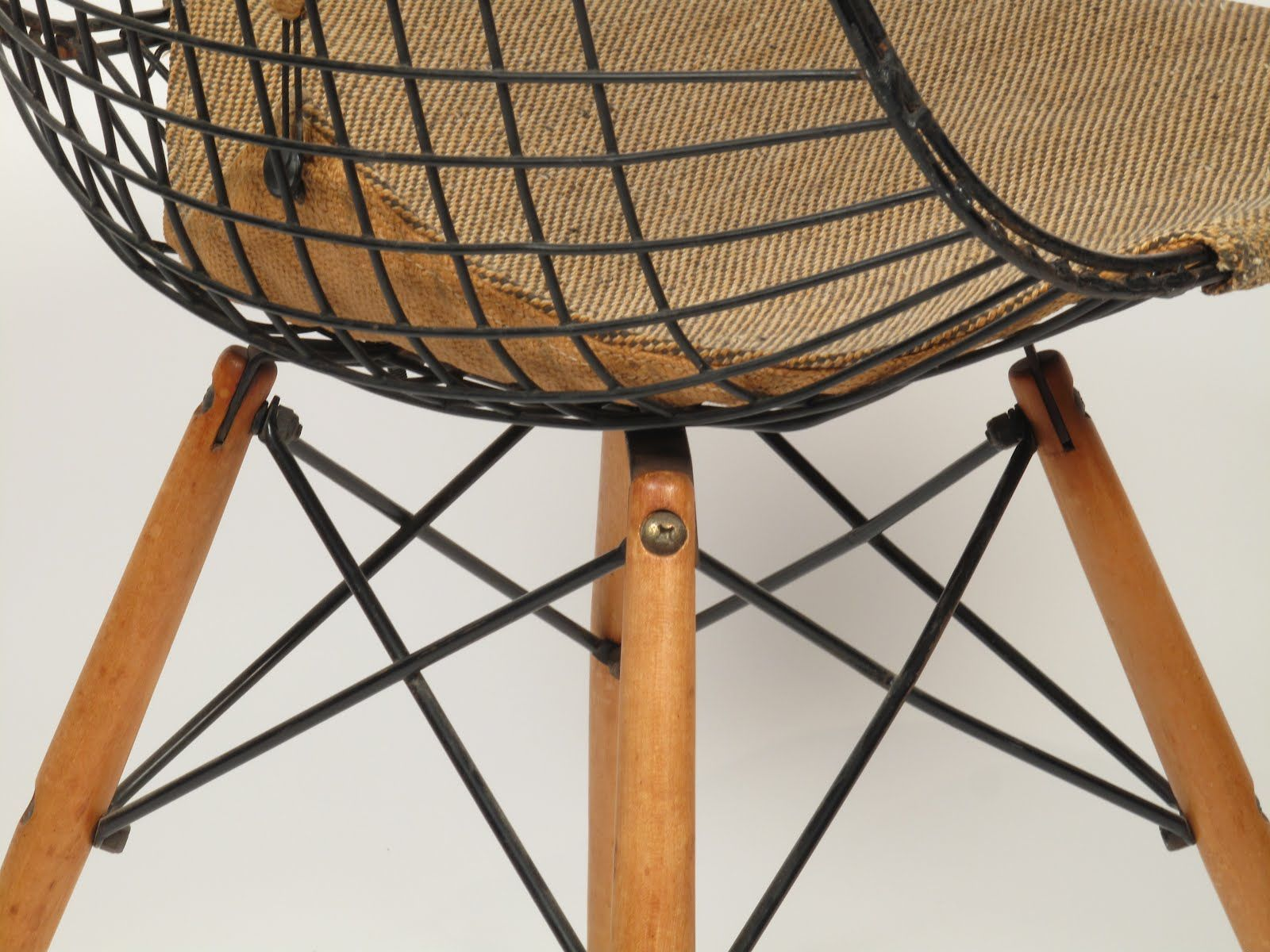 "Charles Eames ""PKW"" Wire Chair Dowel Base 1952 store"