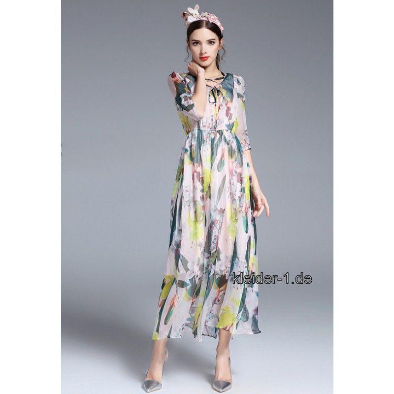 Outlet-Store 5e685 8cb74 Sommerkleid 2019 Lang mit Bunte Muster | Sommerkleider 2020 ...