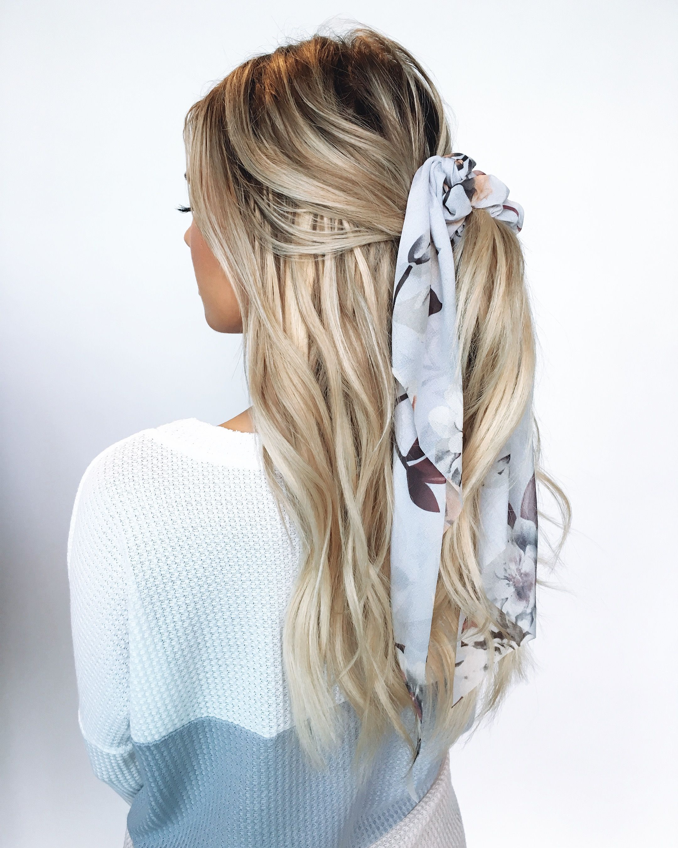 Everyone S Fave Hair Trend This Spring And Summer Scarf Hairstyles Hair Styles Silk Scarf Hair