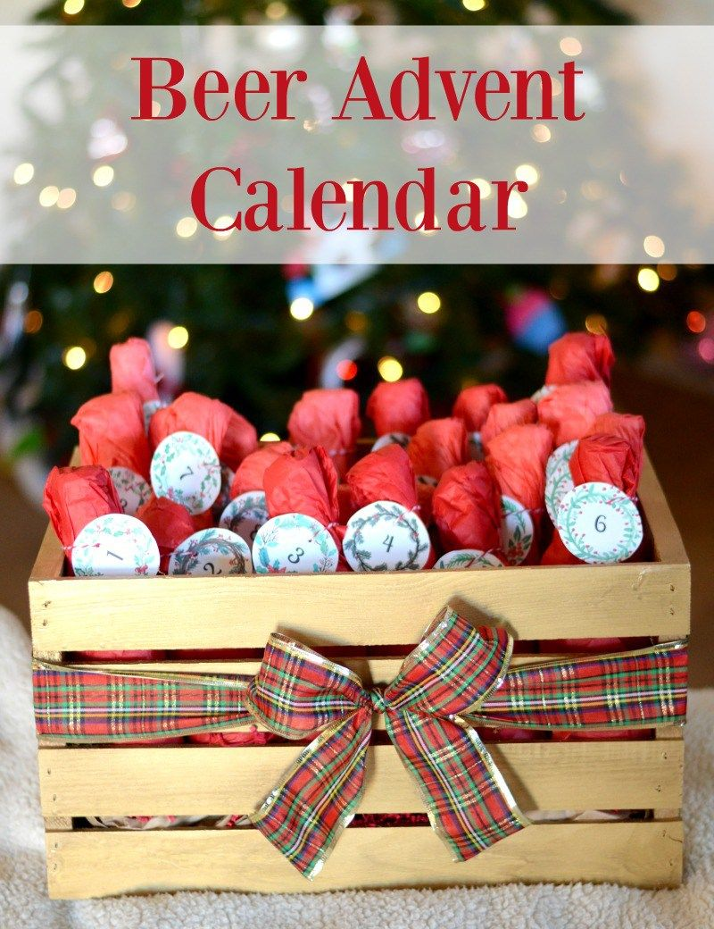 Diy Beer Advent Calendar With Free Printables Beer Advent Calendar Beer Advent Calendar Diy Diy Advent Calendar