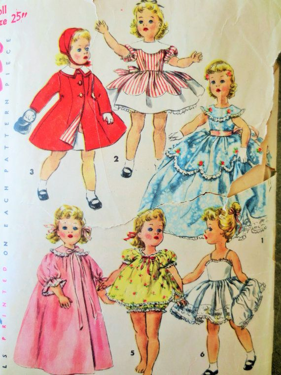 """Butterick Sewing Patterns Doll 18/"""" Retro 1950s 1940s Vintage Clothing Hats Dress"""