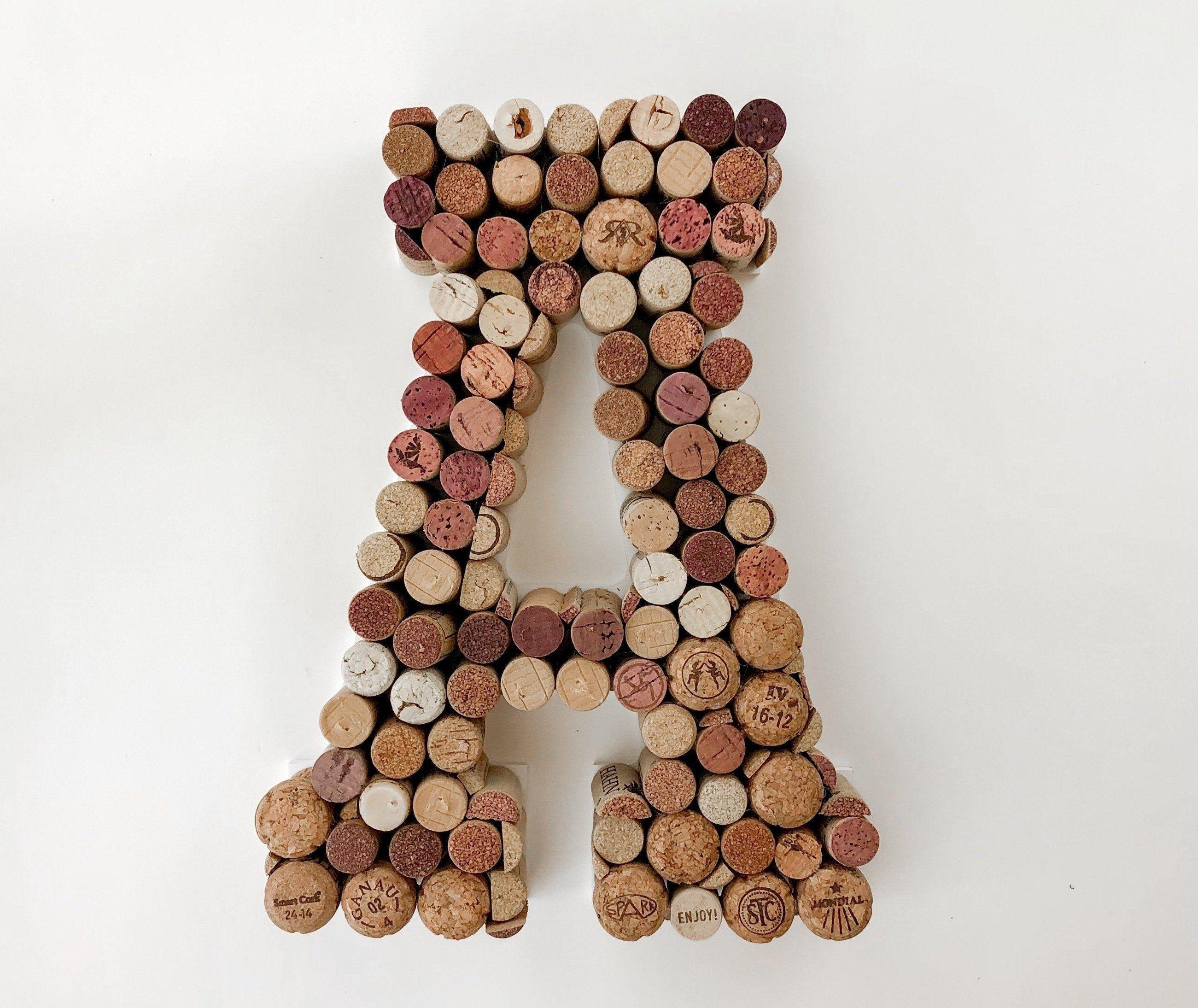 Wine Cork Letter Cork Letter A B C D E F G H I J K Etsy Cork Letters Wine Cork Wine Cork Monogram