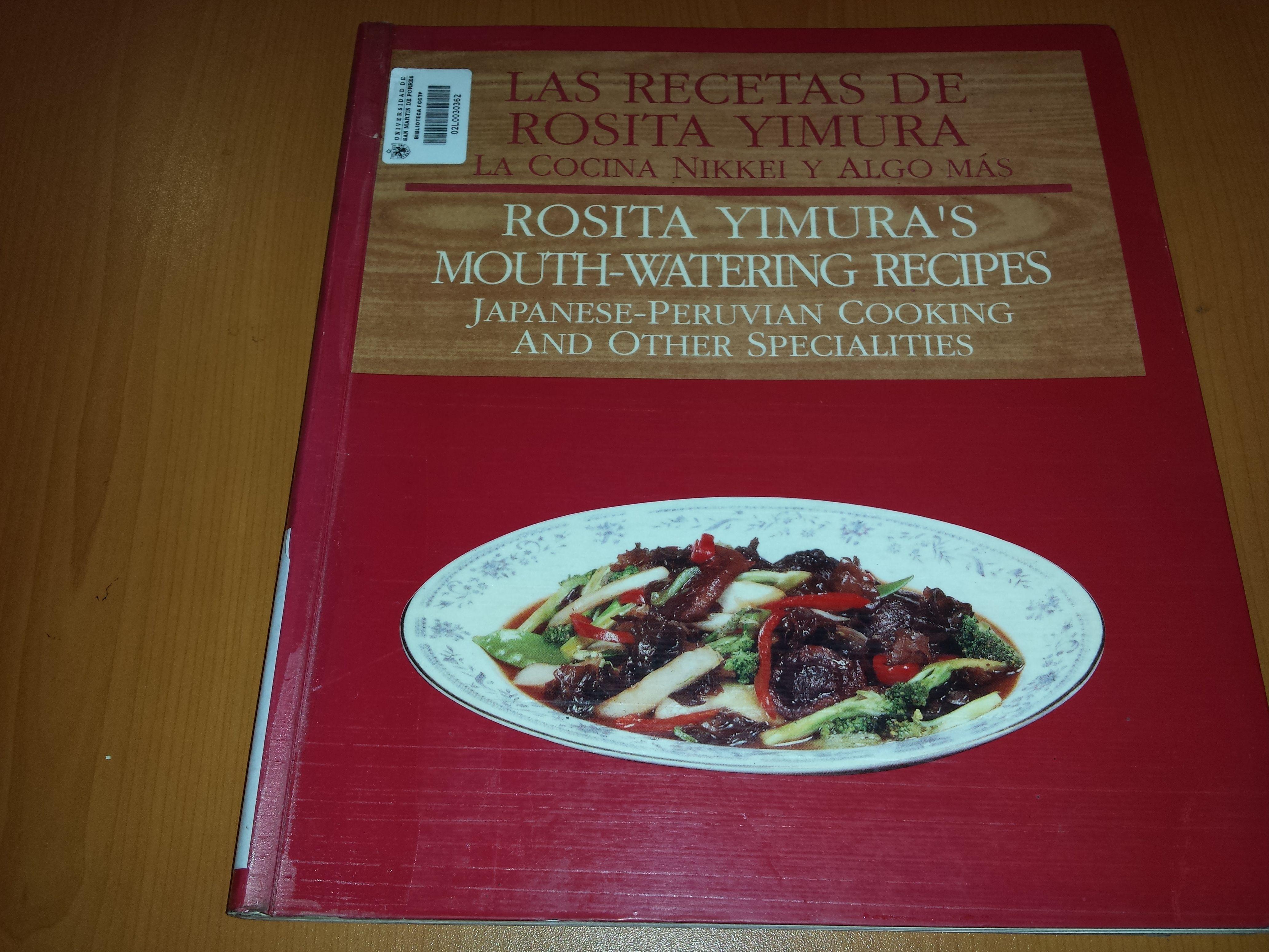 Cocina Nikkei Recetas | Autor Yimura Rosita Titulo Las Recetas De Rosita Yimura La