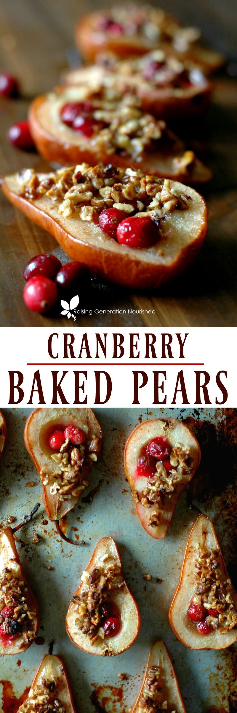 Cranberry Baked Pears Recipe Baked Pears Pear Recipes Fruit