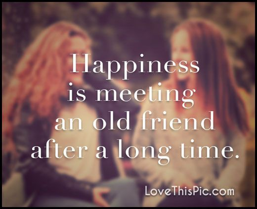 Happiness Is Meeting An Old Friend After A Long Time Quotes Quote