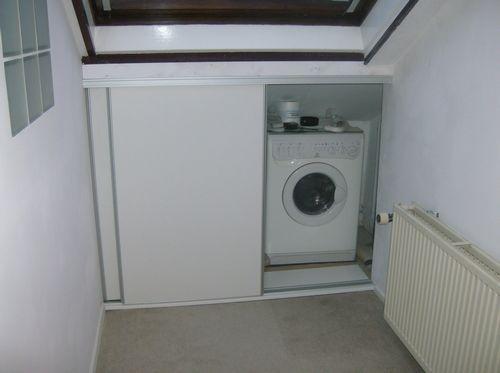 Wasmachine Kast Badkamer : Decosier schuifdeurkast wasmachine badkamer