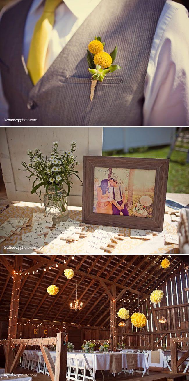 Diy elegant wedding decorations  Vintage DIY Wedding  Rustic Barn Wedding  La Belle Bride  wedding