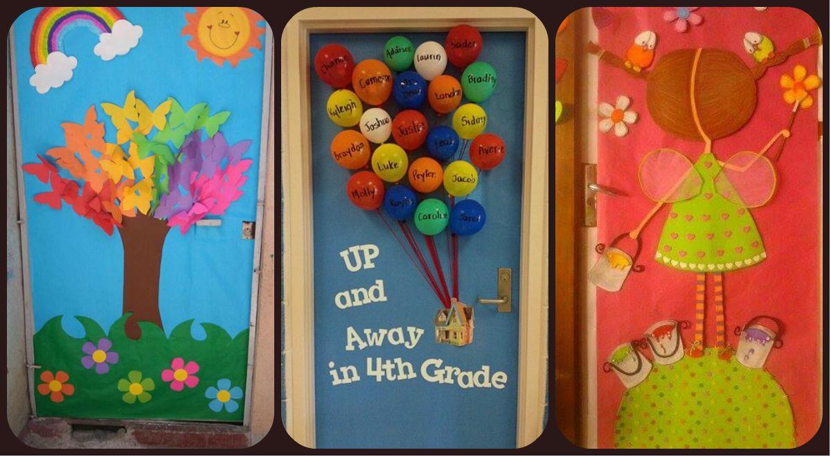 Colecci n de puertas para decorar tu clase en marzo llega la primavera primavera classroom Como decorar una puerta
