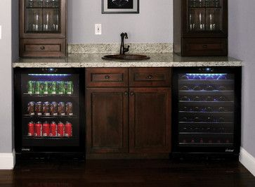 Wine And Beverage Cooler In Home Bar Design Ideas Pictures Remodel And Decor Home Bar Design Wine Coolers Drinks Bar Refrigerator