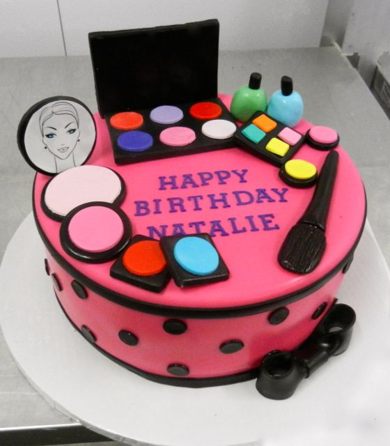 A singletier fit for a budding makeup artist Happy Birthday