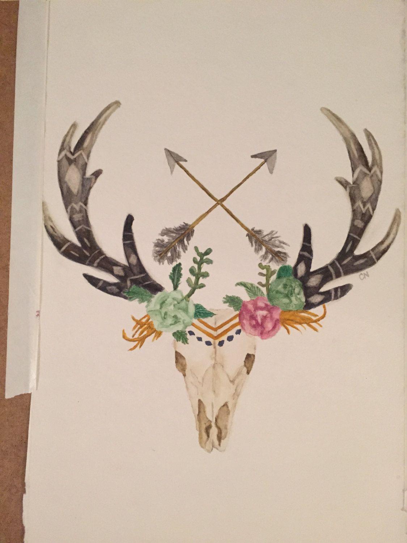 how to clean deer antlers and skull