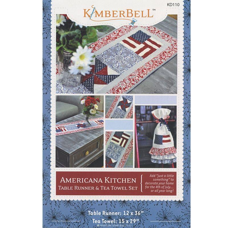 American Kitchen Table Runner & Tea Towel Set Pattern - Kim Christopherson - Kimberbell Designs