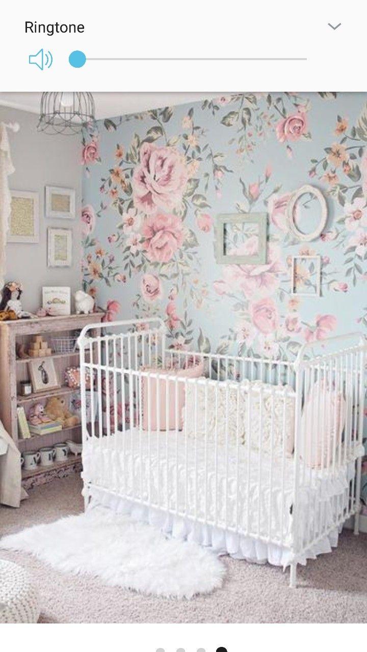 Pin By Nina Reese On Beautiful Baby Spaces <3 | Floral Baby Nursery, Baby Girl Room, Feminine Nursery