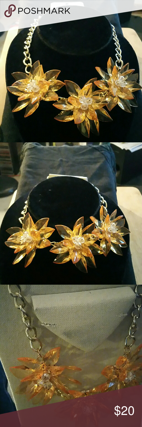 Necklace Fashion jewellery necklace yellow flower new Jewelry Necklaces