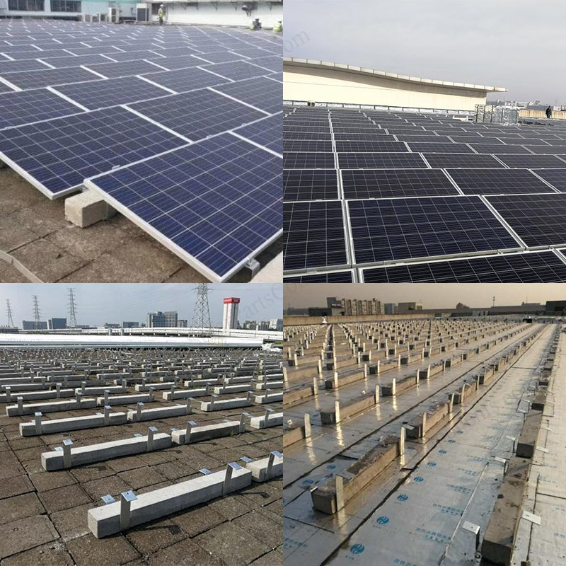 Ballasted Flat Roof Mounting System In 2020 Flat Roof Solar Installation Roofing Systems