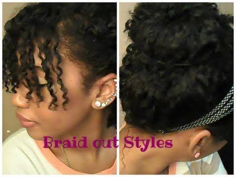 ▶ FOUR Curly Braid-Out Hair Styles -short/medium length - YouTube