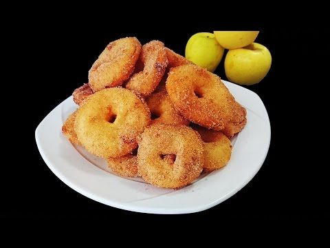 Aros de manzana, receta fácil. Deliciosa receta para preparar aros de manzana, bañados con azúcar y canela, explicada paso a paso. Sigue el link: https://youtu.be/nFoL-fwmXQ4