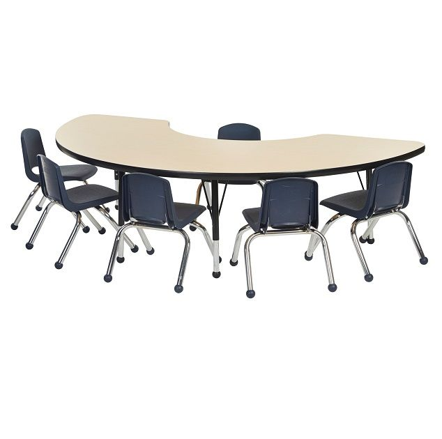 Shape Activity Table & Chair Package - Half Moon Table w ...