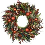 Christmas wreath with pinecones