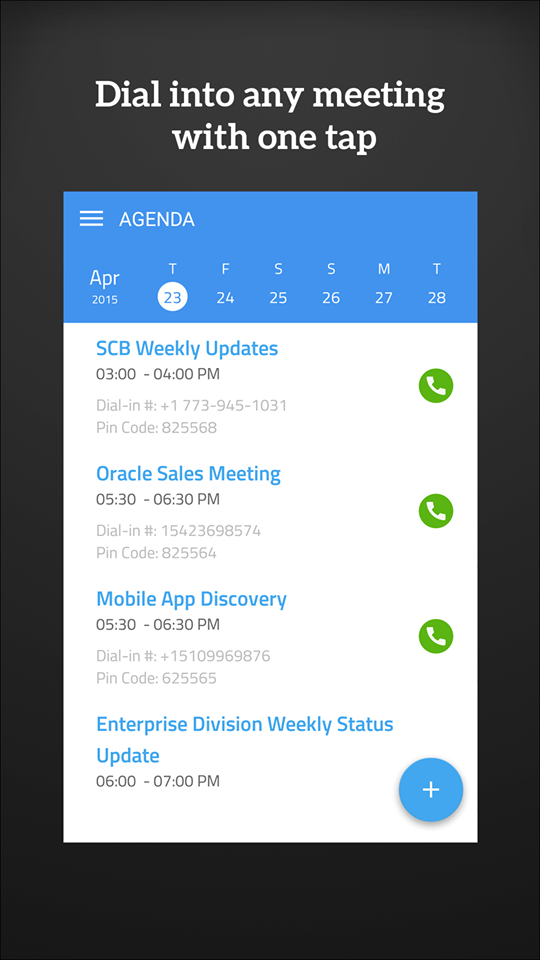 Like WebEx? We do too! Dial your Webex conferencecalls