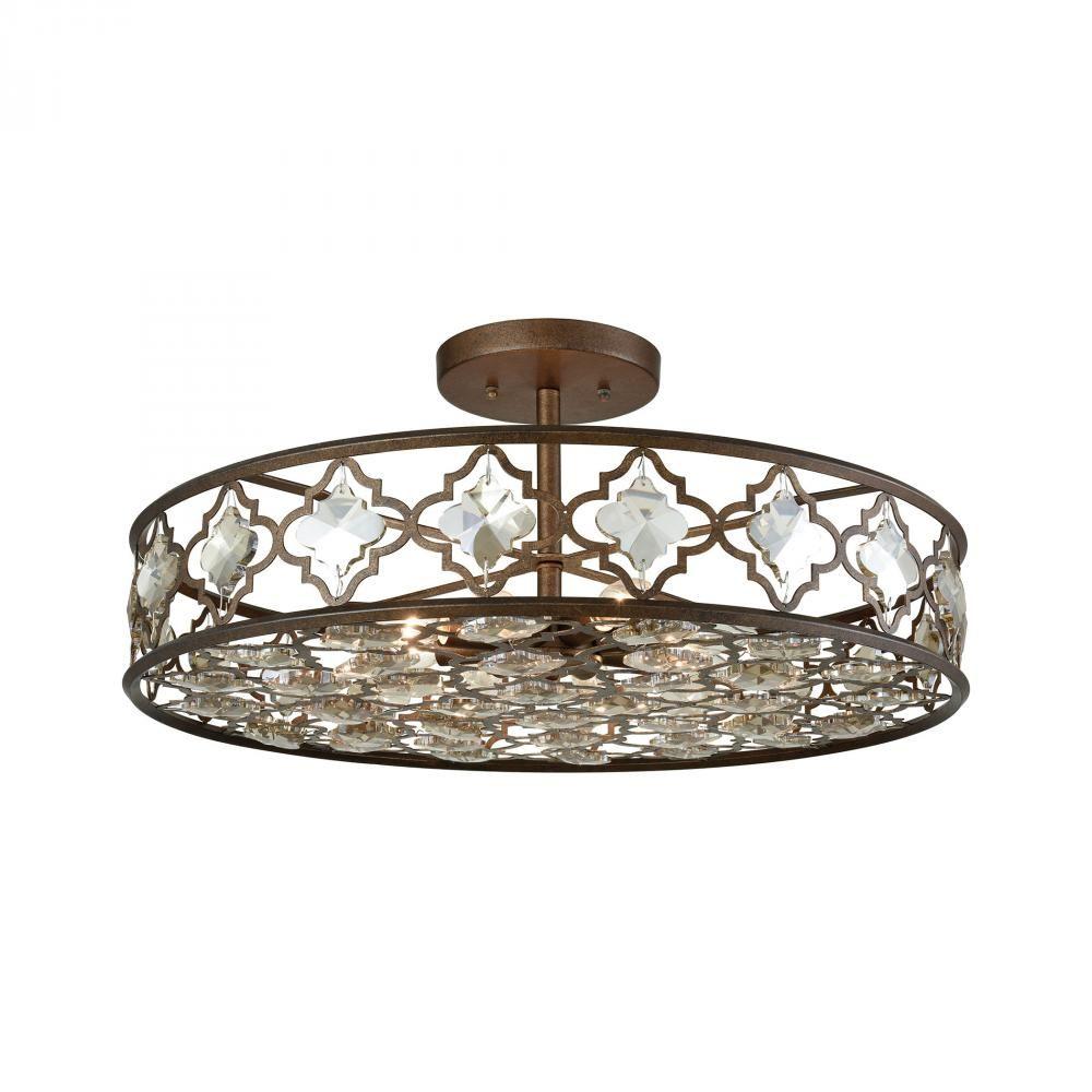 Armand 8 Light Semi Flush In Weathered Bronze Wi  31093/8 | Brechers Lighting  sc 1 st  Pinterest & Armand 8 Light Semi Flush In Weathered Bronze Wi : 31093/8 ...