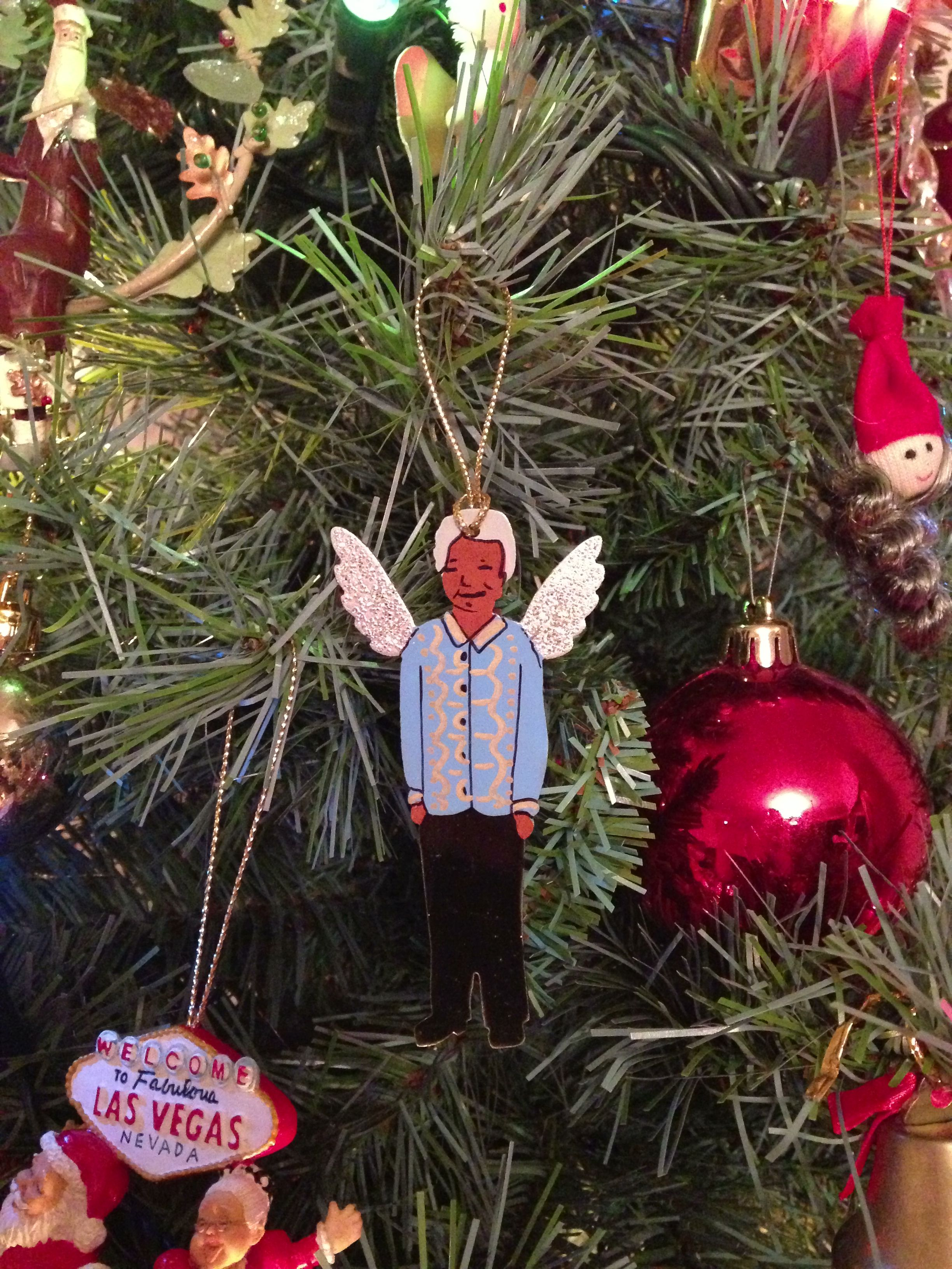 Nelson Mandela Angel Decoration On My Tree Bought In South Africa Last Christmas Christmas Decorations Christmas In South Africa Christmas Time