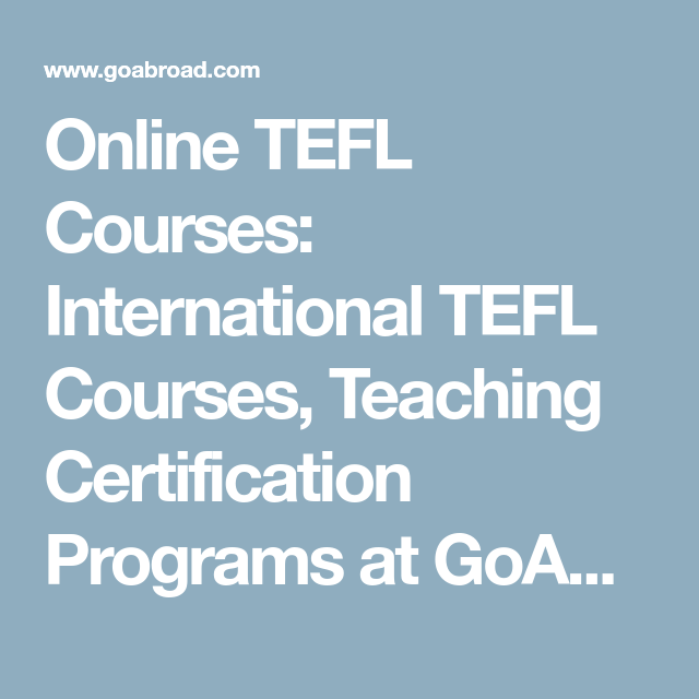 Online TEFL Courses: International TEFL Courses, Teaching ...