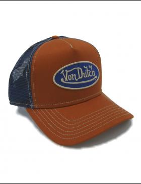 22351439f94db Von Dutch Logo trucker cap - orange blue