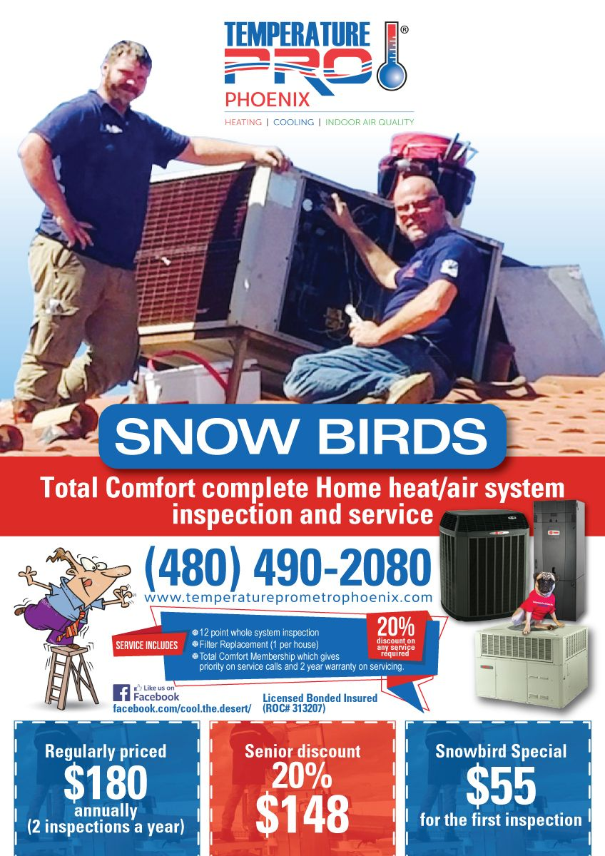 Snowbird Iheat Air Conditioning Inspection Special Advertisement