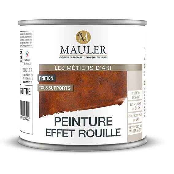 la peinture effet rouille mauler est le produit id al pour l 39 imitation de la rouille aussi bien. Black Bedroom Furniture Sets. Home Design Ideas