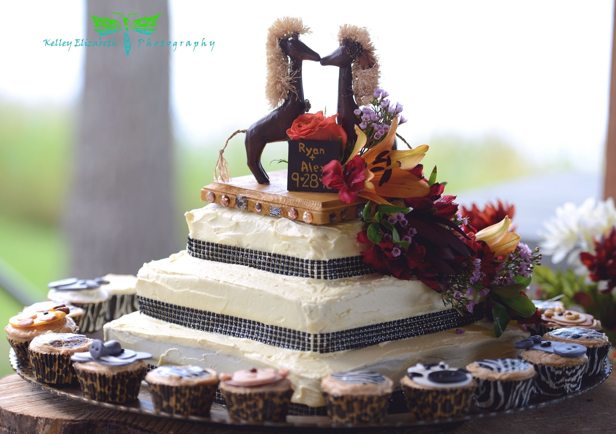 African Themed Wedding Cake