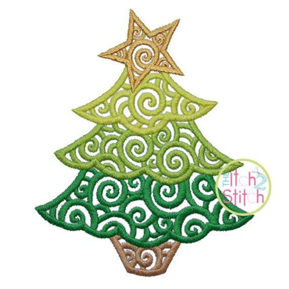 Scroll Christmas Tree Embroidery Design For Machine Etsy In 2020 Christmas Tree Embroidery Design Embroidery Designs Christmas Embroidery