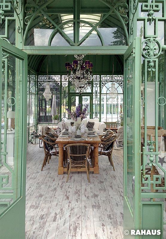 Garten #RAHAUS #Pavillon #Stuhl #Geschirr #Blumen #Dekoration ...