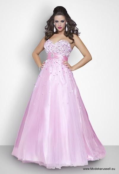 Ball Linie Designer Abendkleid in Rosa mit Blumen in 2020 ...